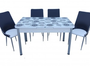 "Трапезна маса + 4 стола ""Indji II"""