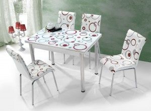 """Трапезна маса + 4 стола """"Sakaria I"""""""